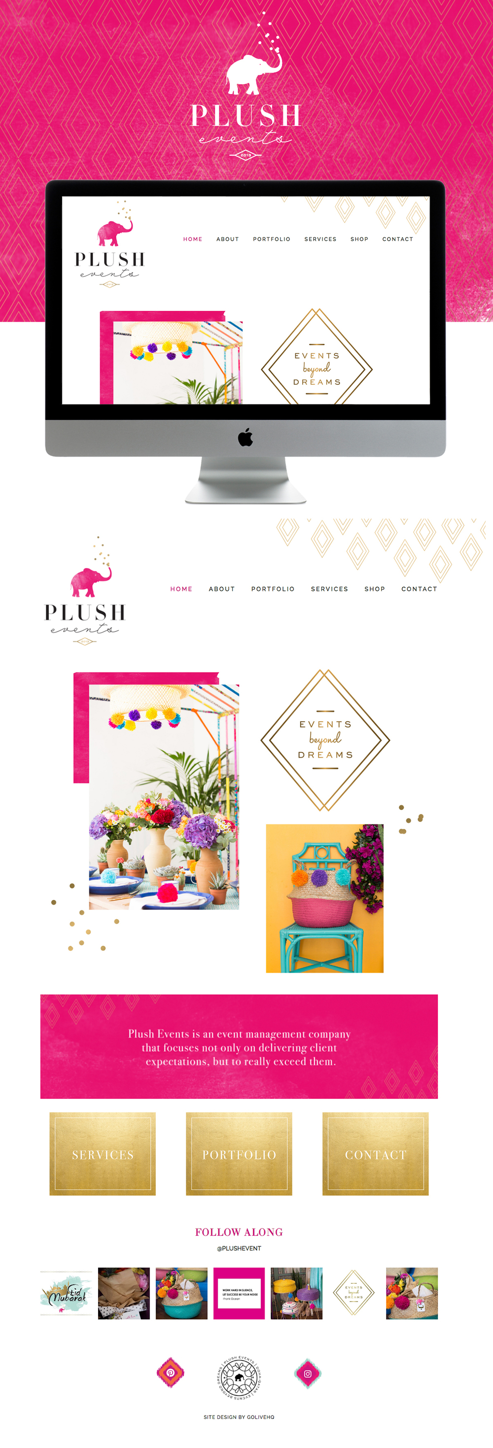 colorful energetic and festive squarespace website design | designed by: golivehq.co