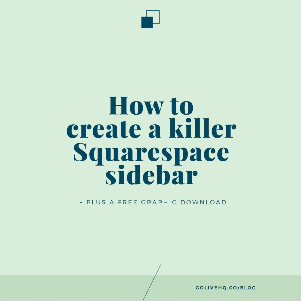 How to create a killer squarespace side bar free graphic for Squarespace templates with sidebar