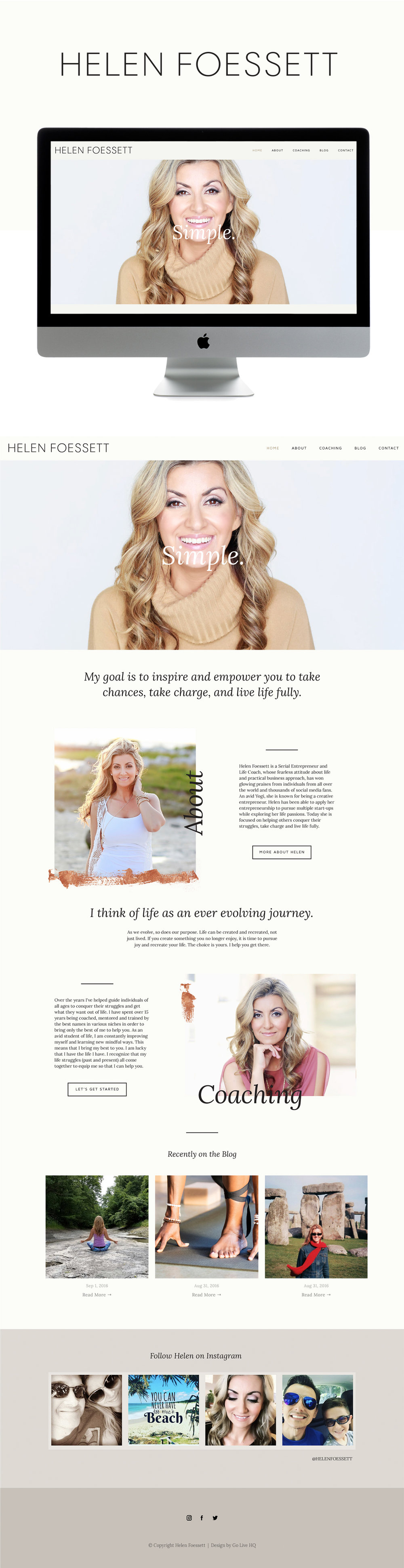 clean, sophisticated, warm & friendly squarespace website design | designed by: golivehq.co