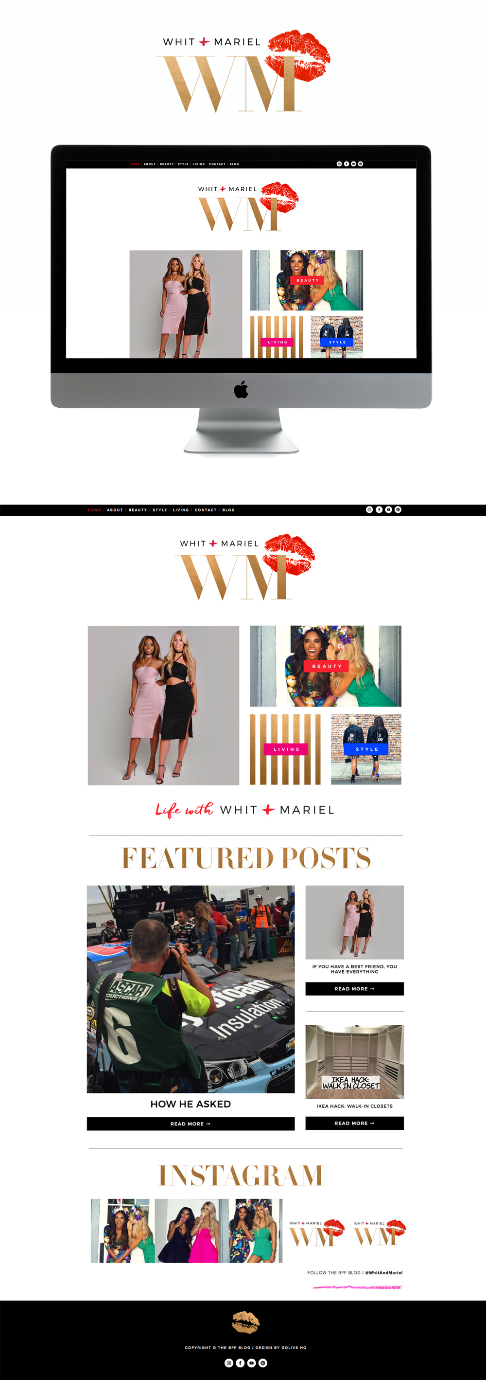 fun energetic & glam squarespace blog design | desighed by: golivehq.co
