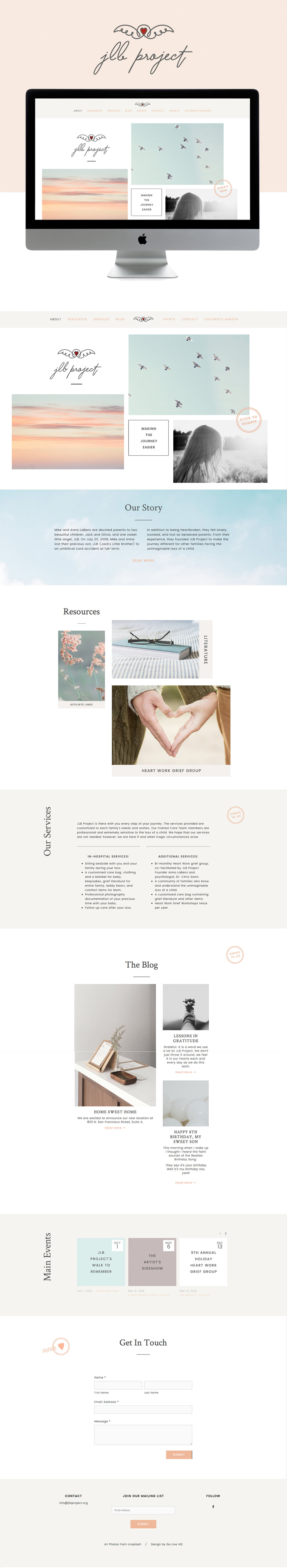 Calm, hopeful and warm Squarespace website design | designed by: golivehq.co