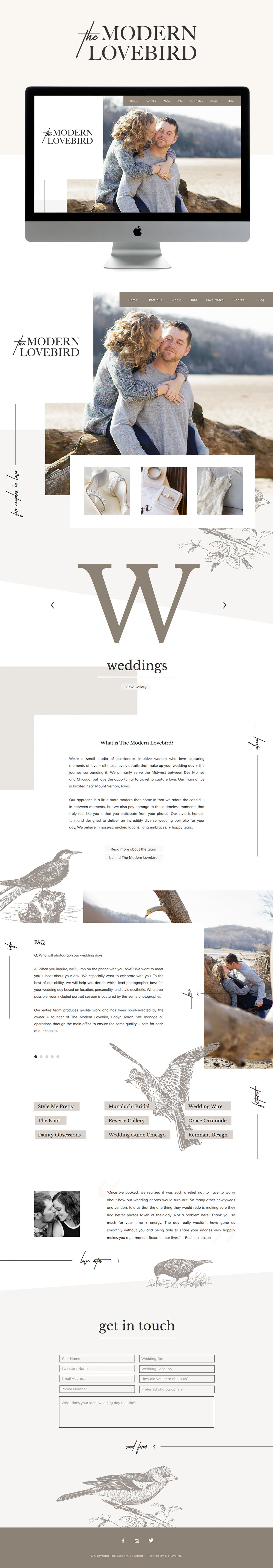 high-end, relatable, fun squarespace website design | design by: golivehq.co