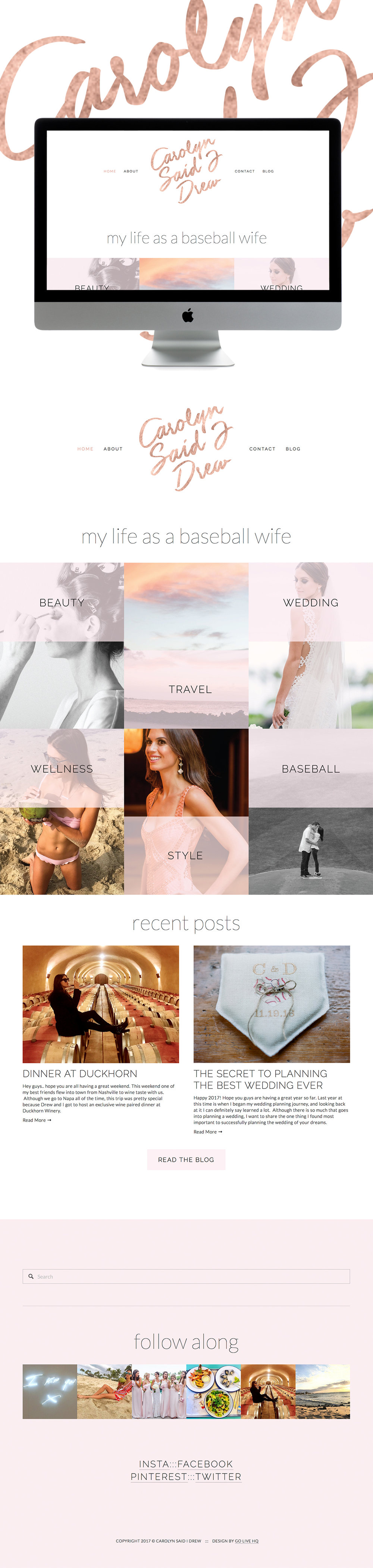 Dreamy, Chic & Carefree Squarespace website design | designed by: golivehq.co