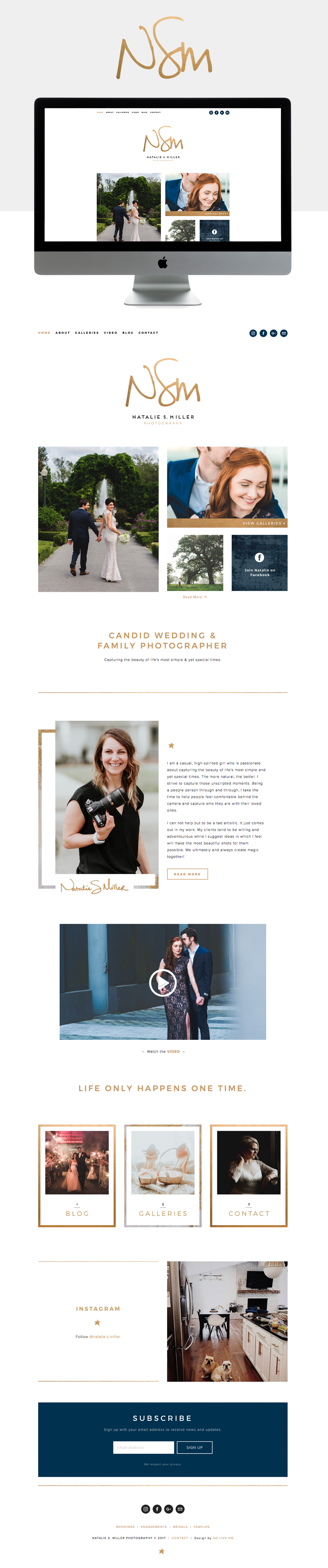 Casual, Romantic, & Light-hearted Squarespace website design | designed by: golivehq.co