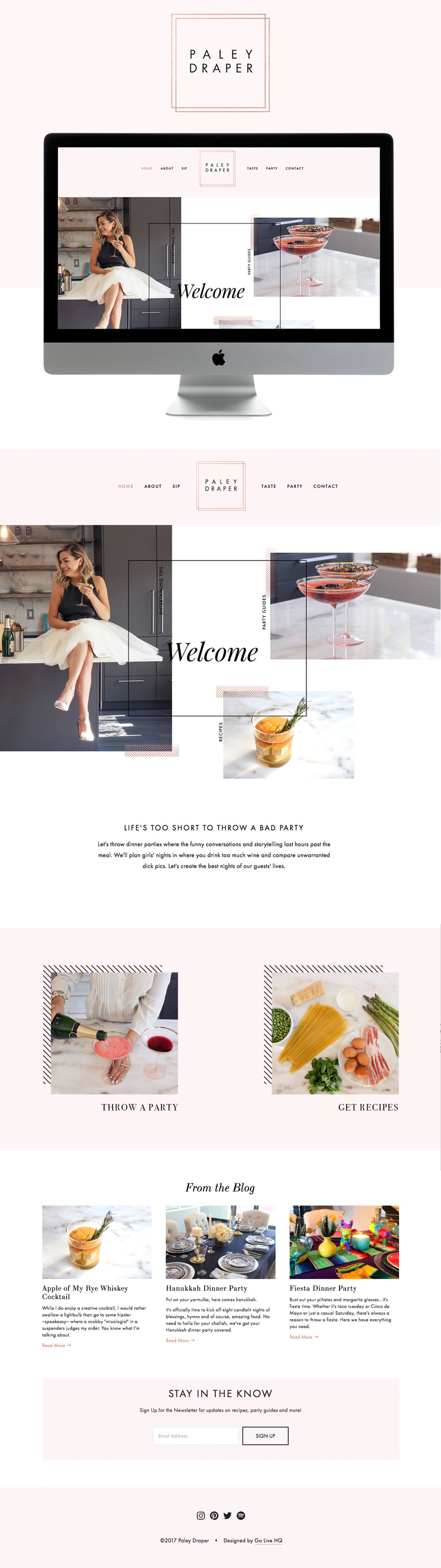 classy , fun & feminine Squarespace website design | designed by: golivehq.co