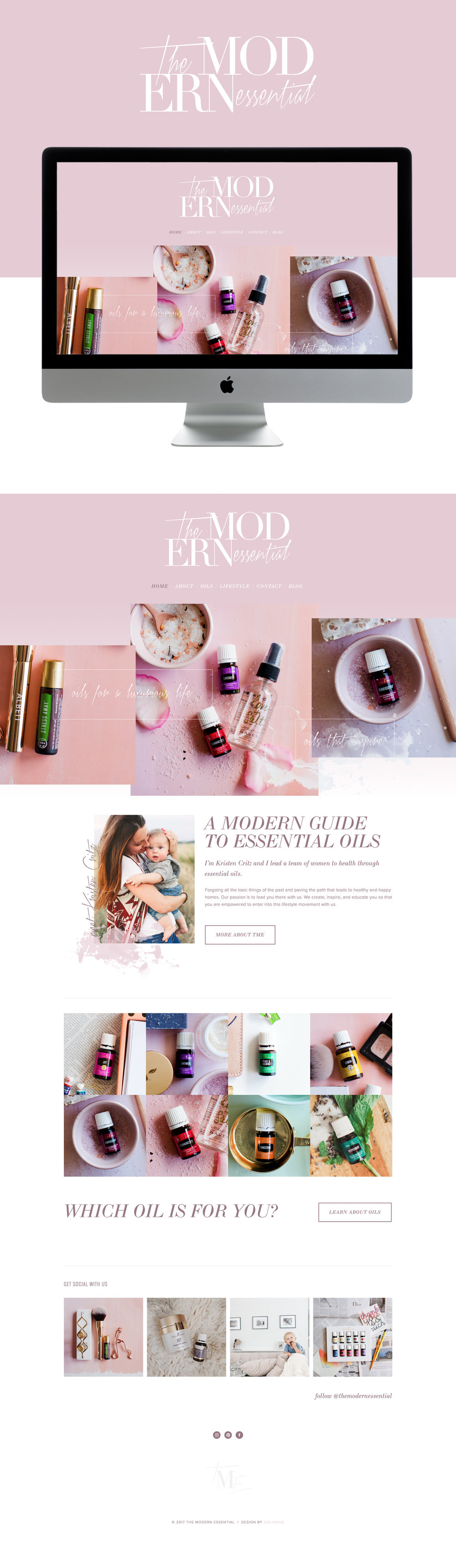 fashionable, clean & whimsical squarespace website design | designed by: golivehq.co