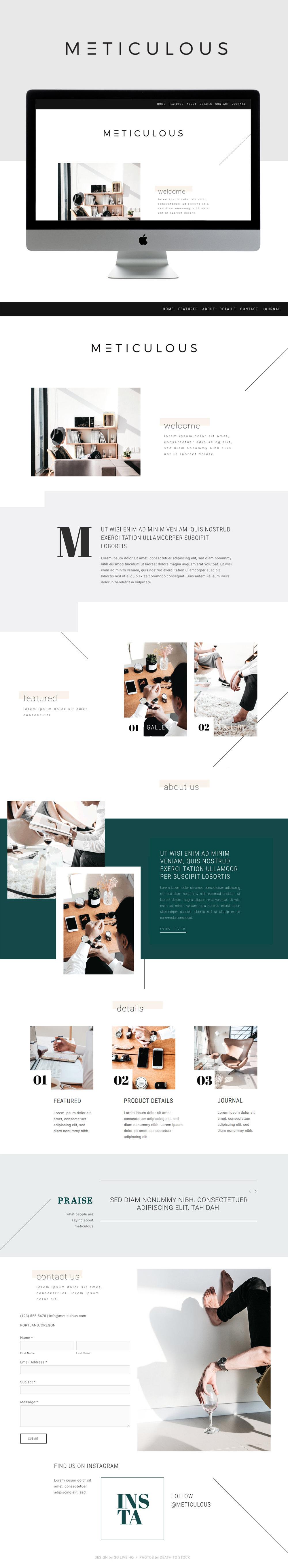 minimal modern squarespace design