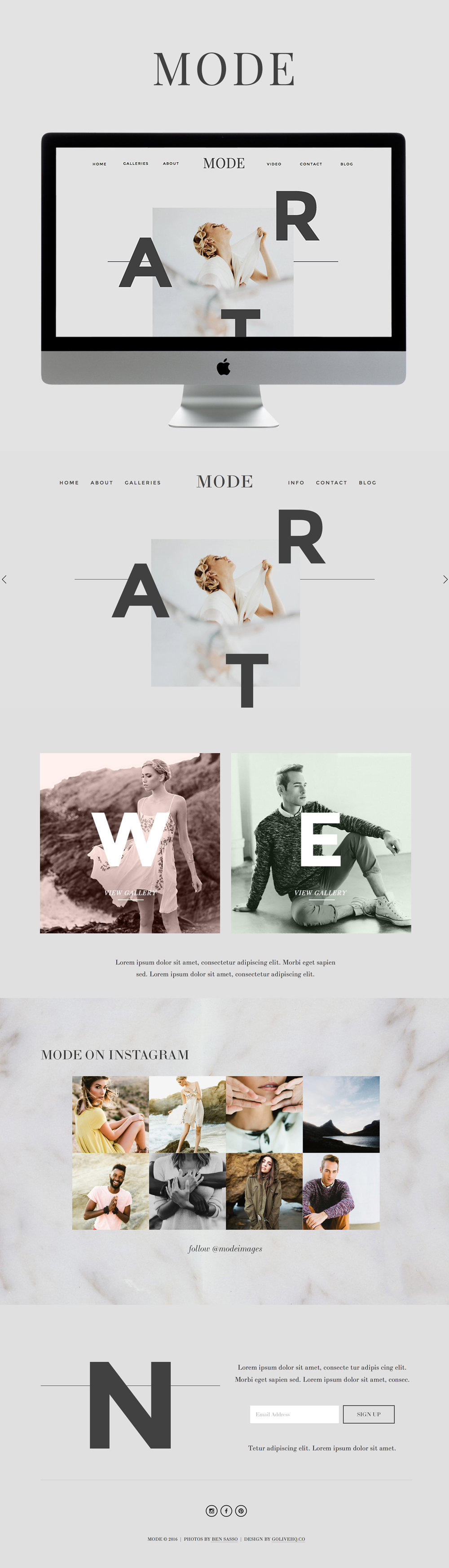 Squarespace template by Go Live Hq