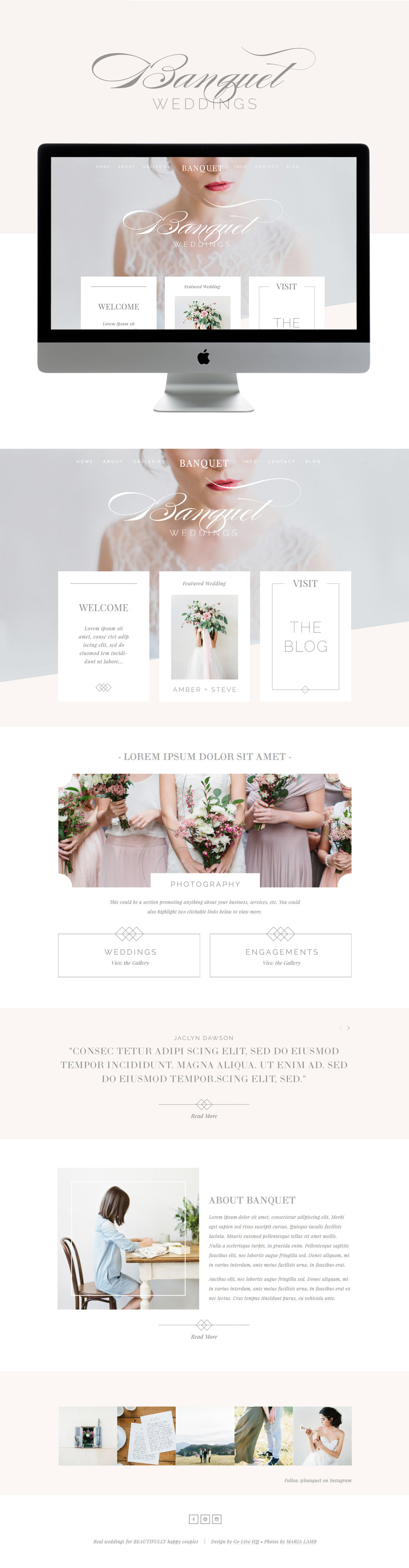 Feminine Squarespace template by Go Live Hq