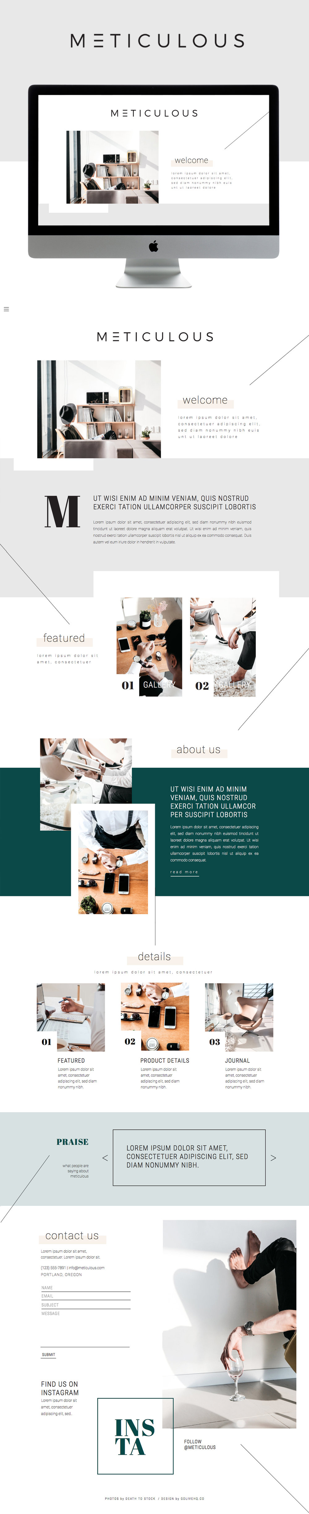 modern showit website theme by Go Live Hq