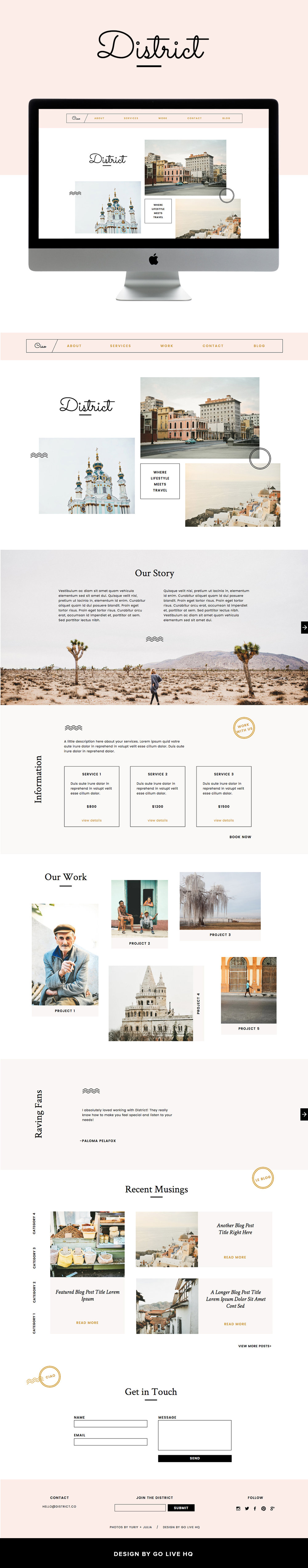 pretty modern showit website theme by Go Live Hq