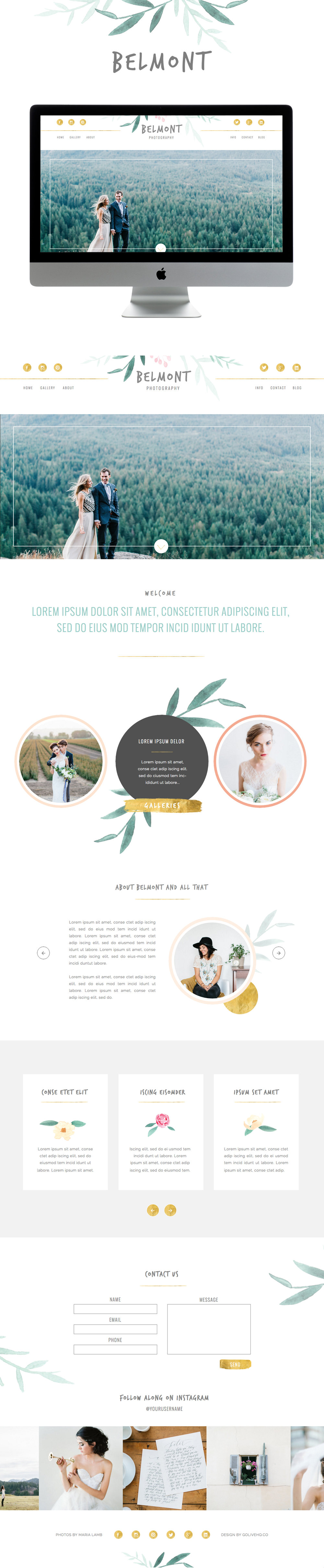 Pretty Photography website inspiration showit  by Go Live Hq