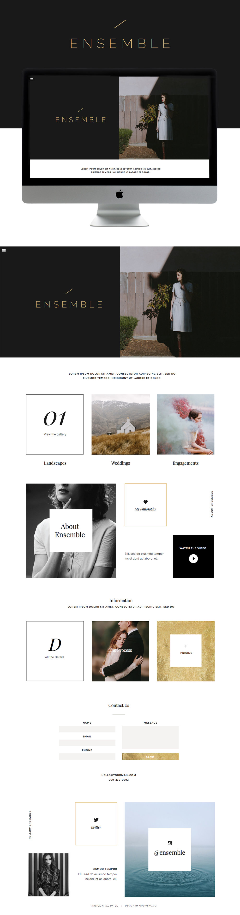 modern clean creative showit website theme by Go Live Hq
