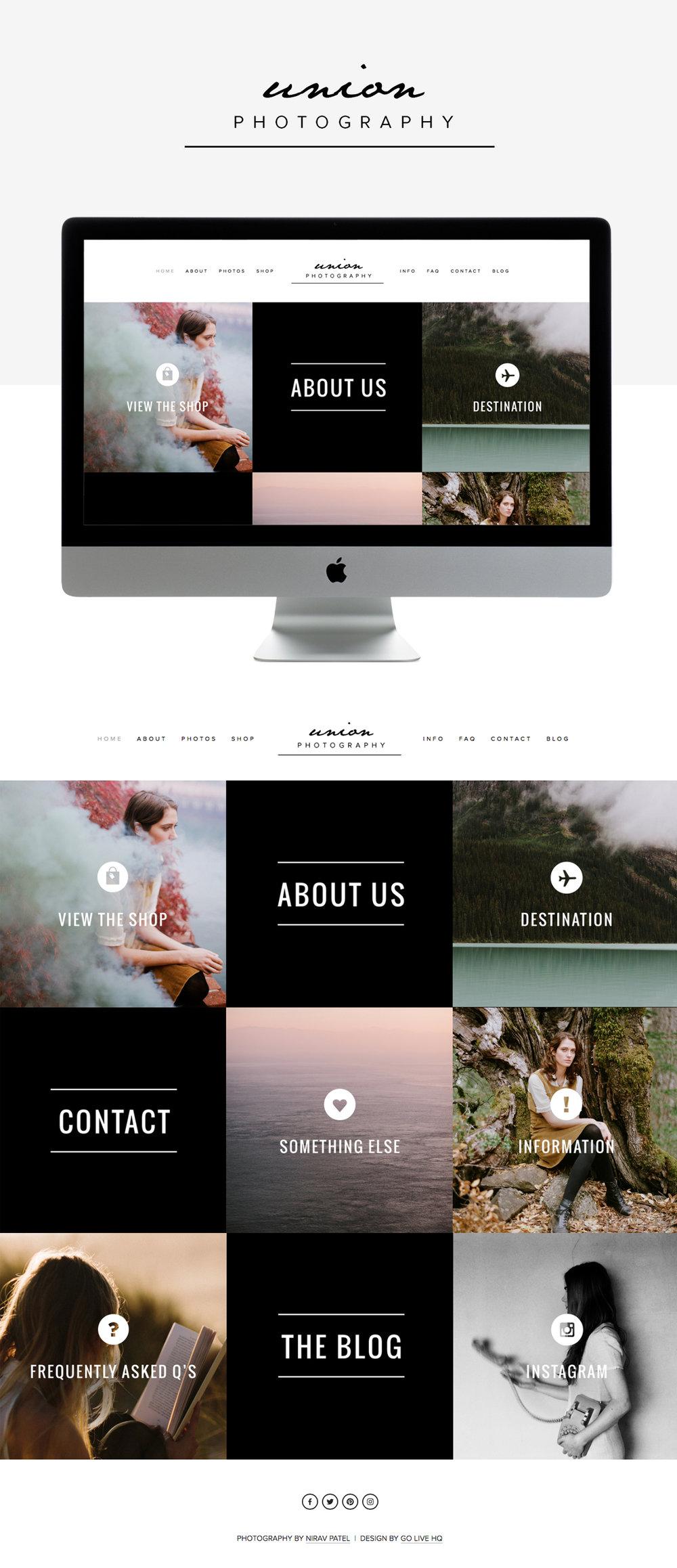 Modern masculine website design by Go Live Hq