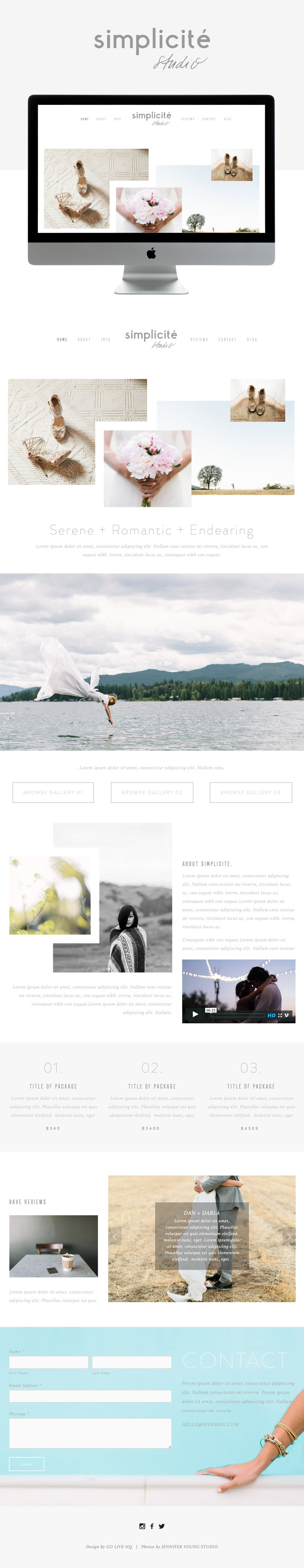 simple squarespace website by Go Live Hq