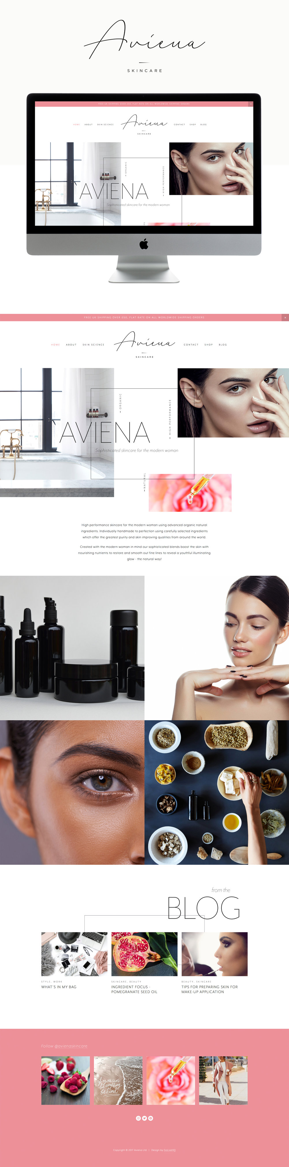 clean, modern, bold Squarespace website design | designed by: golivehq.co