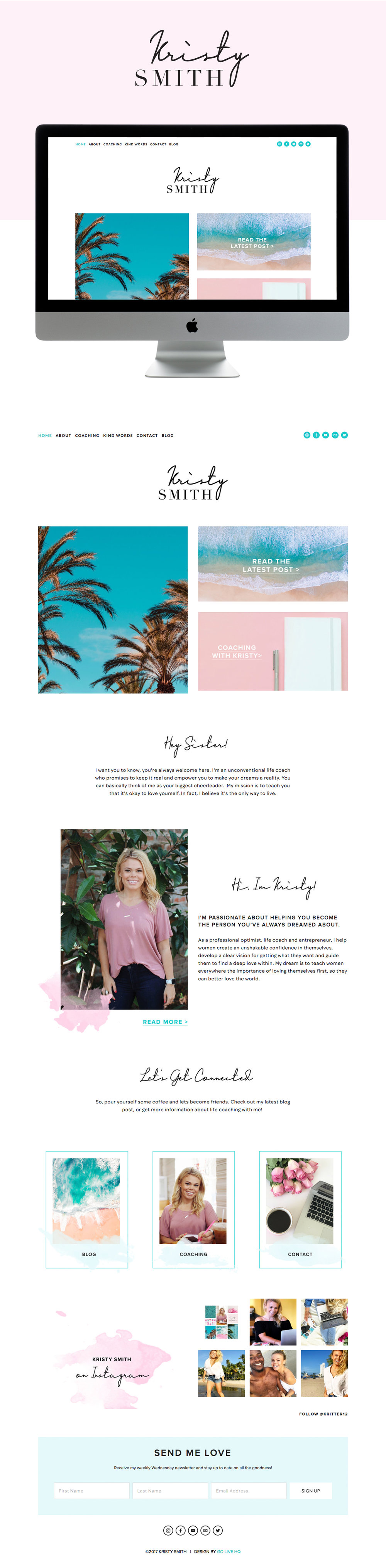 tropical, fun & vibrant squarespace website design | designed by: golivehq.co