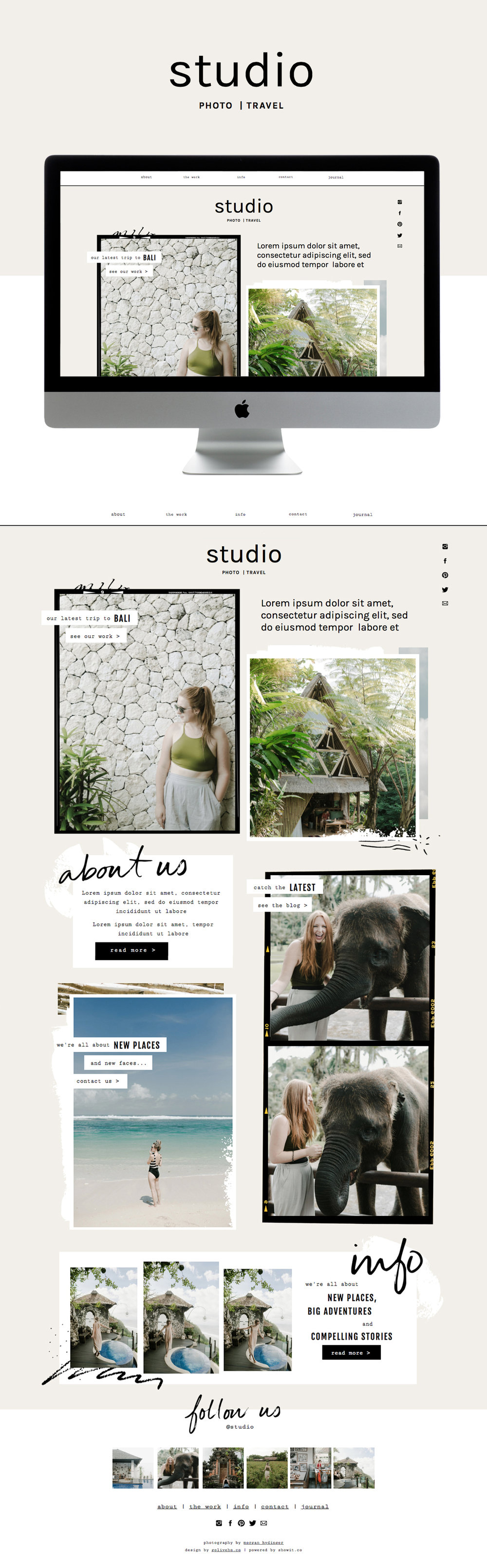 collage website template