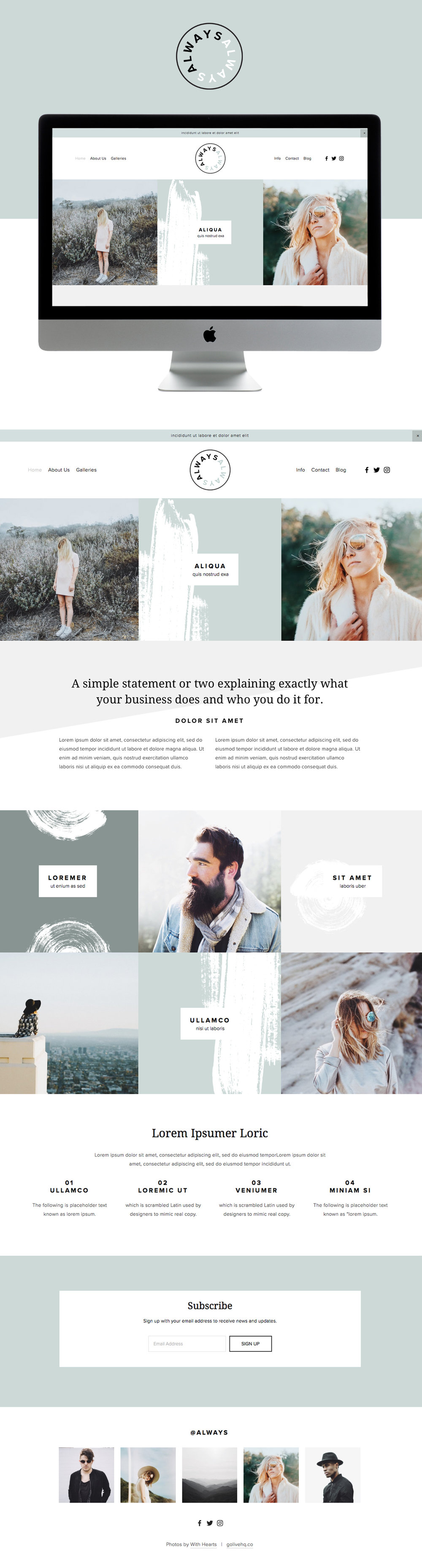 Clean modern website template Go Live Hq