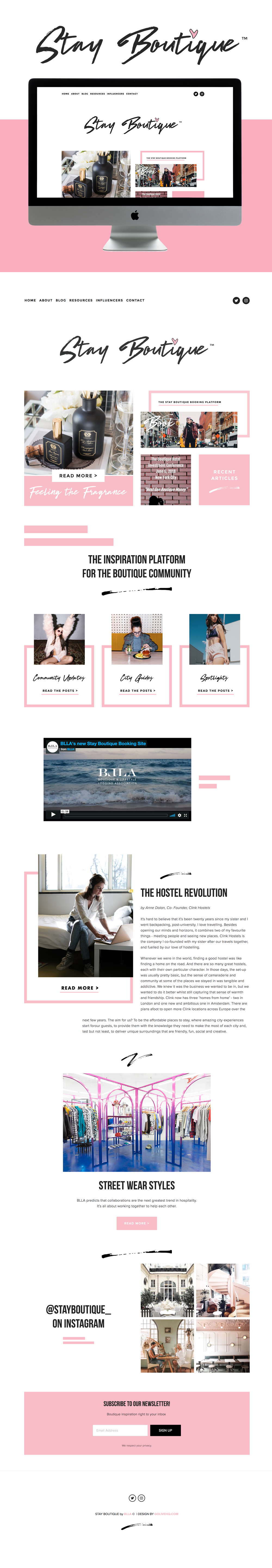 Boutique website inspiration | Go live Hq
