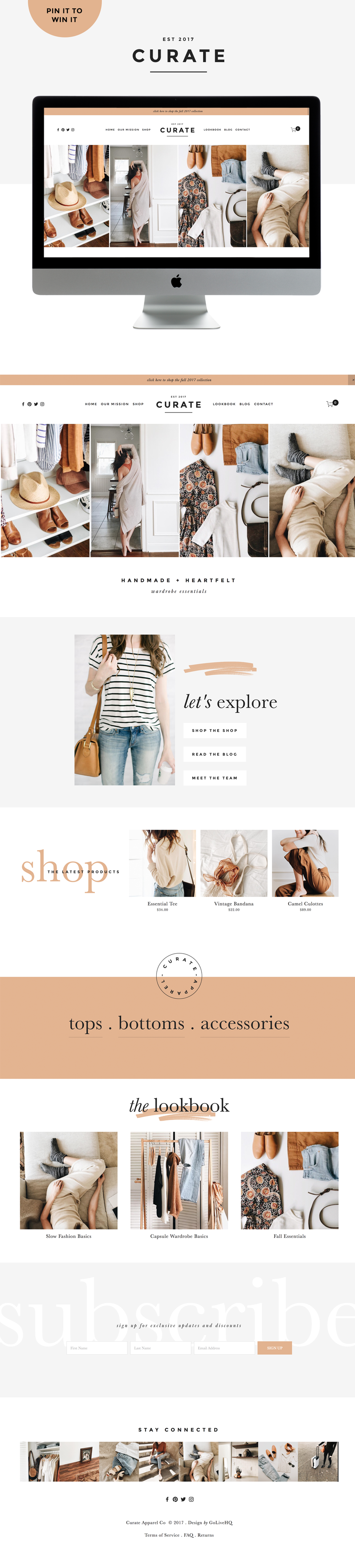 Modern, Sleek, Simple Squarespace Shop Template | By Go Live HQ