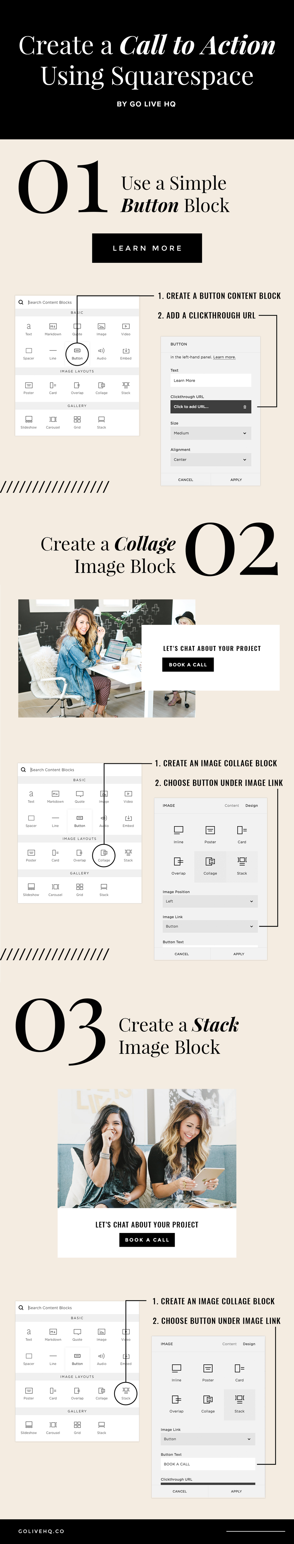 Use Squarespace Tools To Create A Call To Action | By Go Live HQ