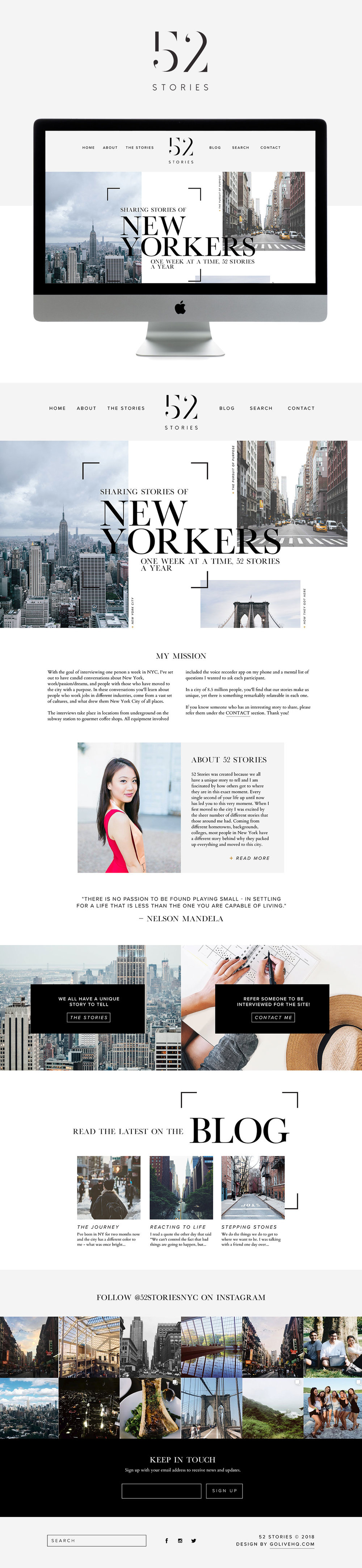Clean modern website design by Go Live Hq