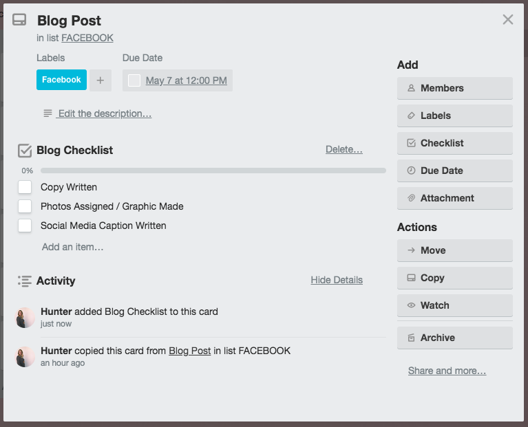 How to use Trello to plan your blog and social media | By Go Live HQ