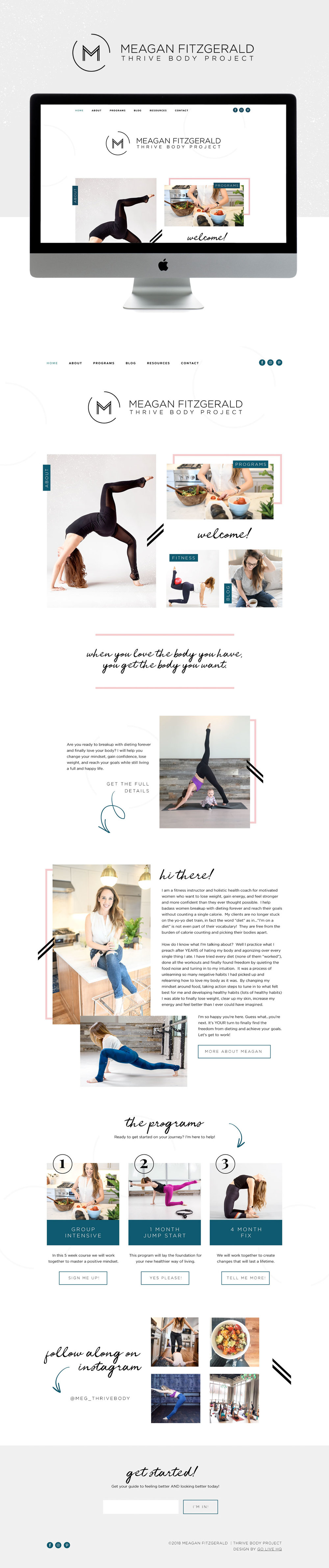 Creative Website Design for Health and Wellness Blog | Website Design by Go Live HQ