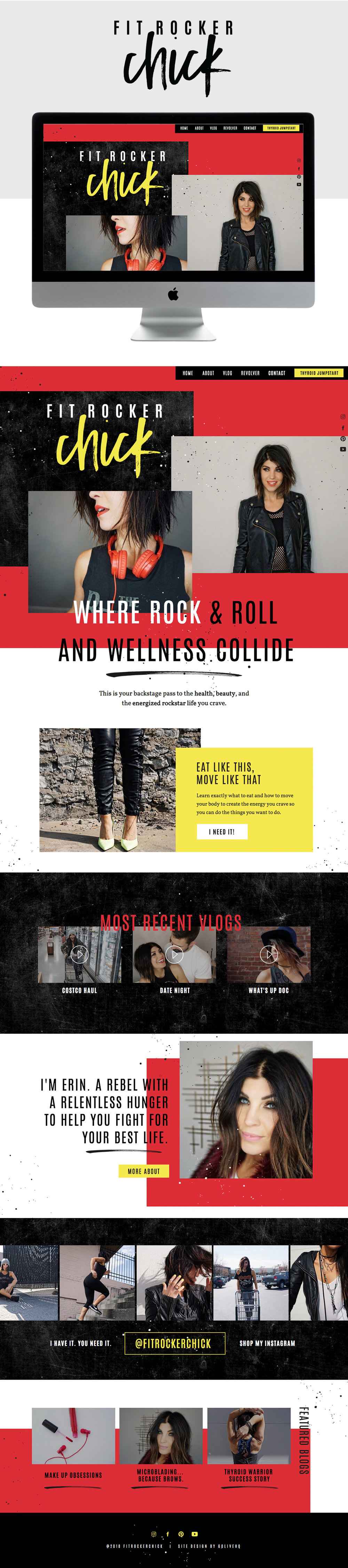 Bold, Modern Website Design for Health and Wellness Blog | Design by Go Live HQ