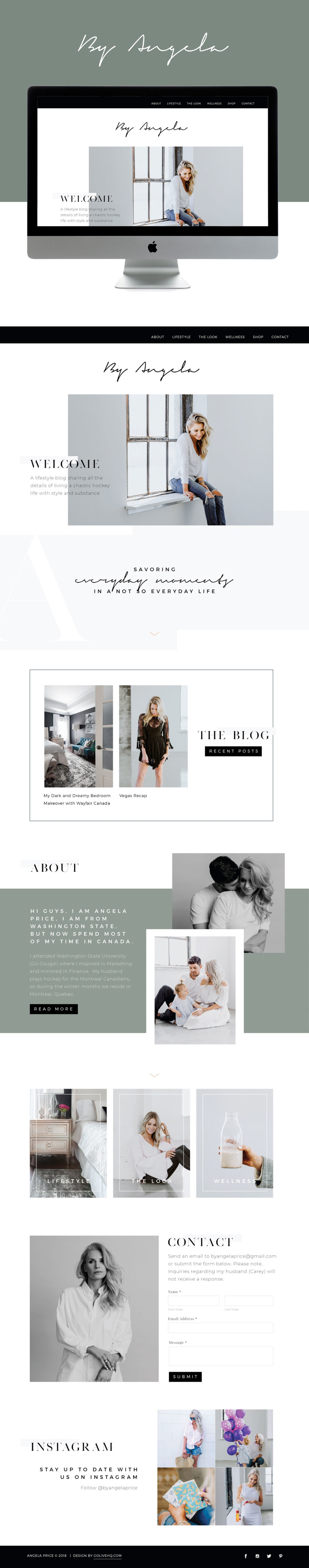 Modern, Sleek Website Design for Lifestyle Blogger | Design by Go Live HQ