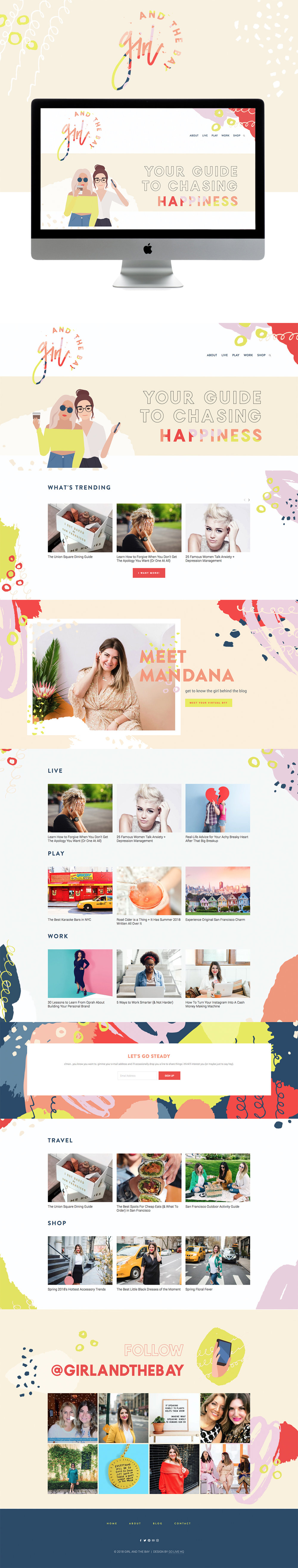 Creative, Colorful Website Design for Lifestyle Blog | Site Design by Go Live HQ