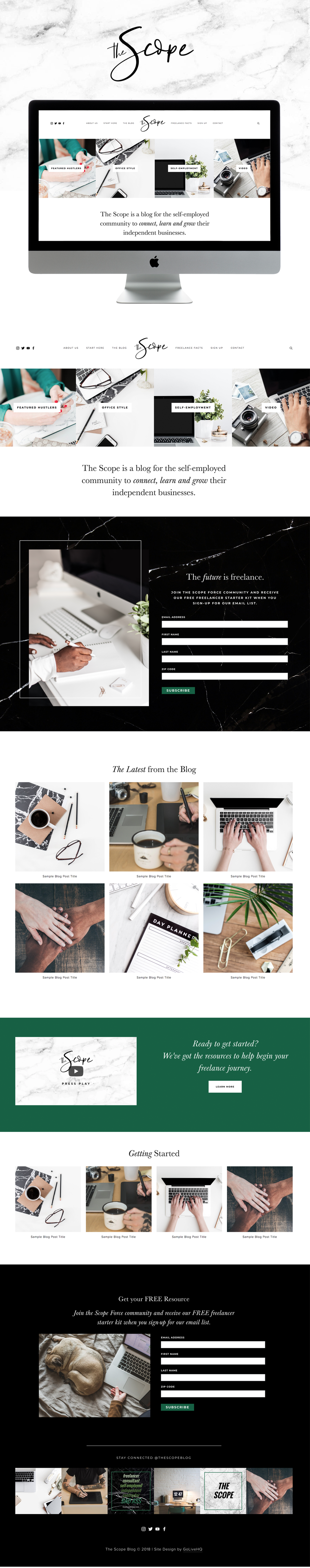 Modern, Professional Website Design for Business | Design by Go Live HQ