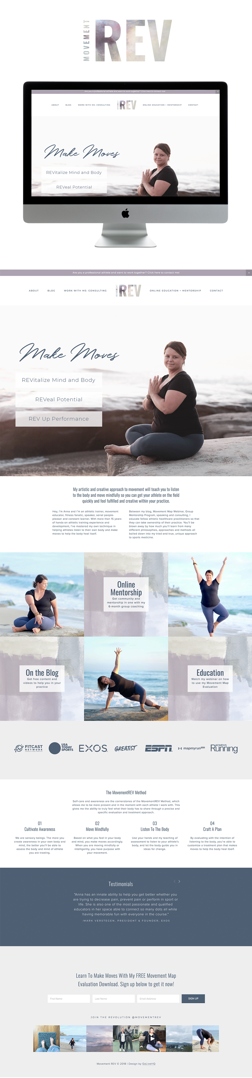 Simple, clean, watercolor-inspired website design for coaches | Website Design by Go Live HQ