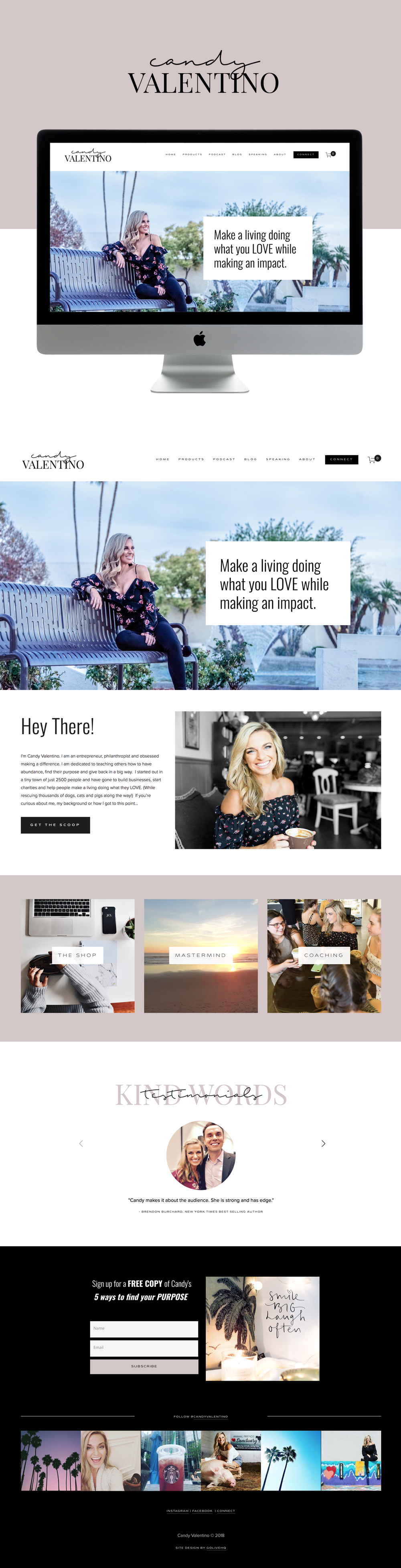 High-End, Modern Website Design for Entrepreneur | Design by Go Live HQ