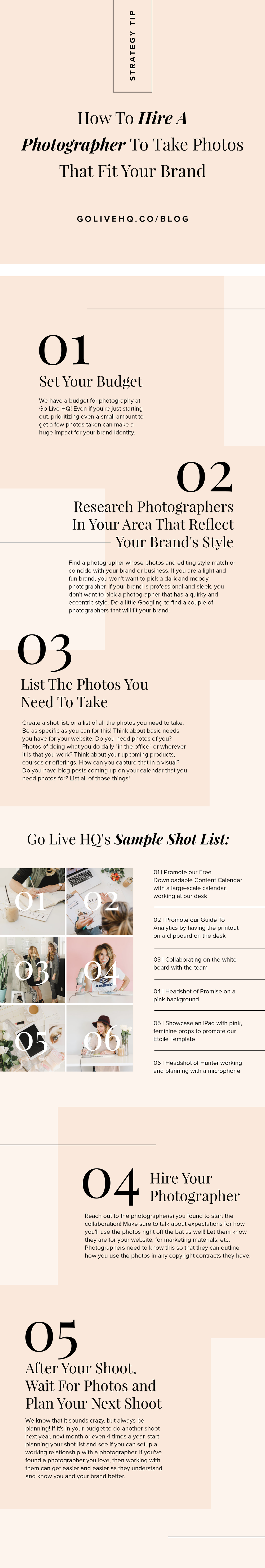 How To Hire A Photographer To Take Photos That Fit Your Brand | Go Live HQ