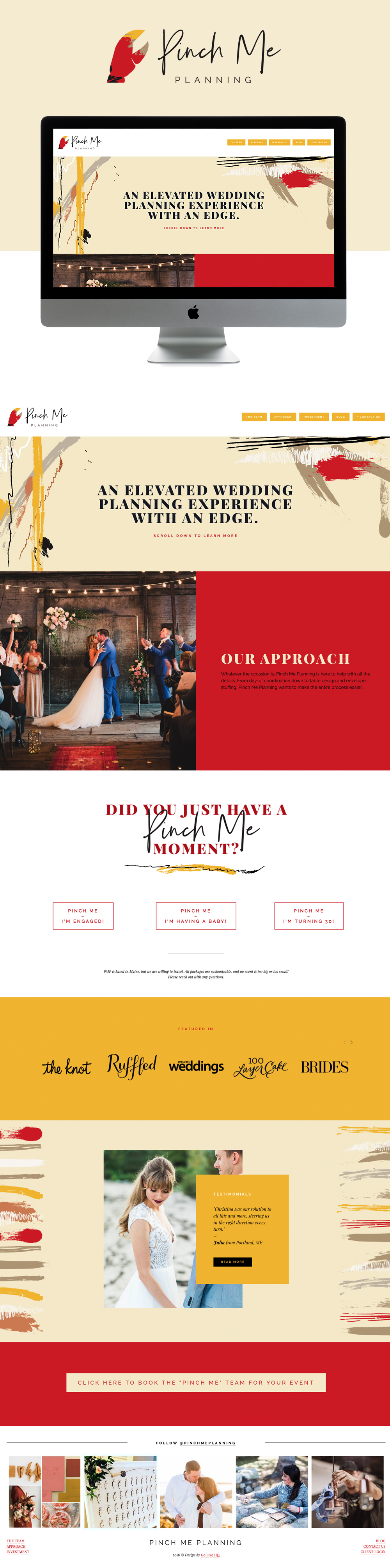 Modern, Edgy, Colorful Website Design for Wedding Planner | Design by Go Live HQ