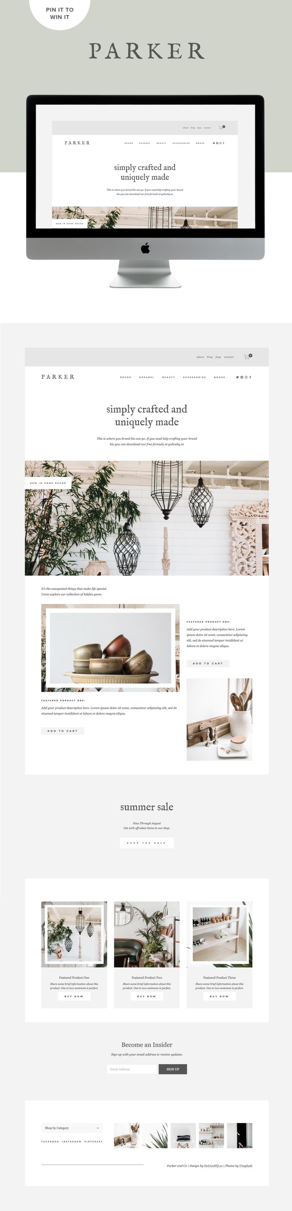 Modern, Minimal E-Commerce Website Design For Shops | Design By Go Live HQ
