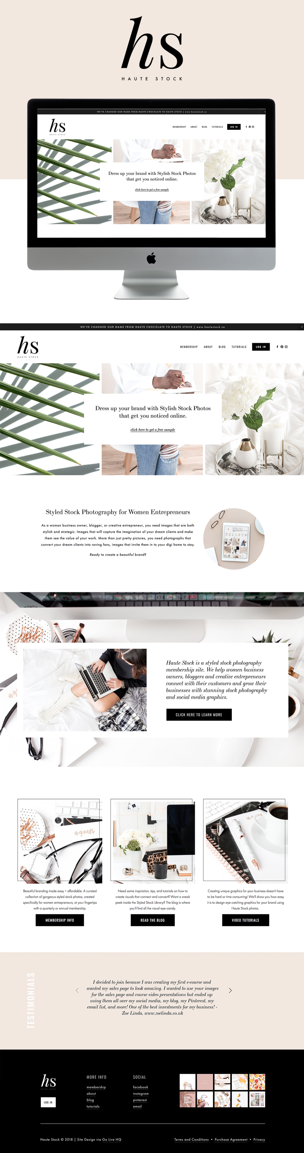 High-end, modern Website Design for Stock Photography Website | Design by Go Live HQ