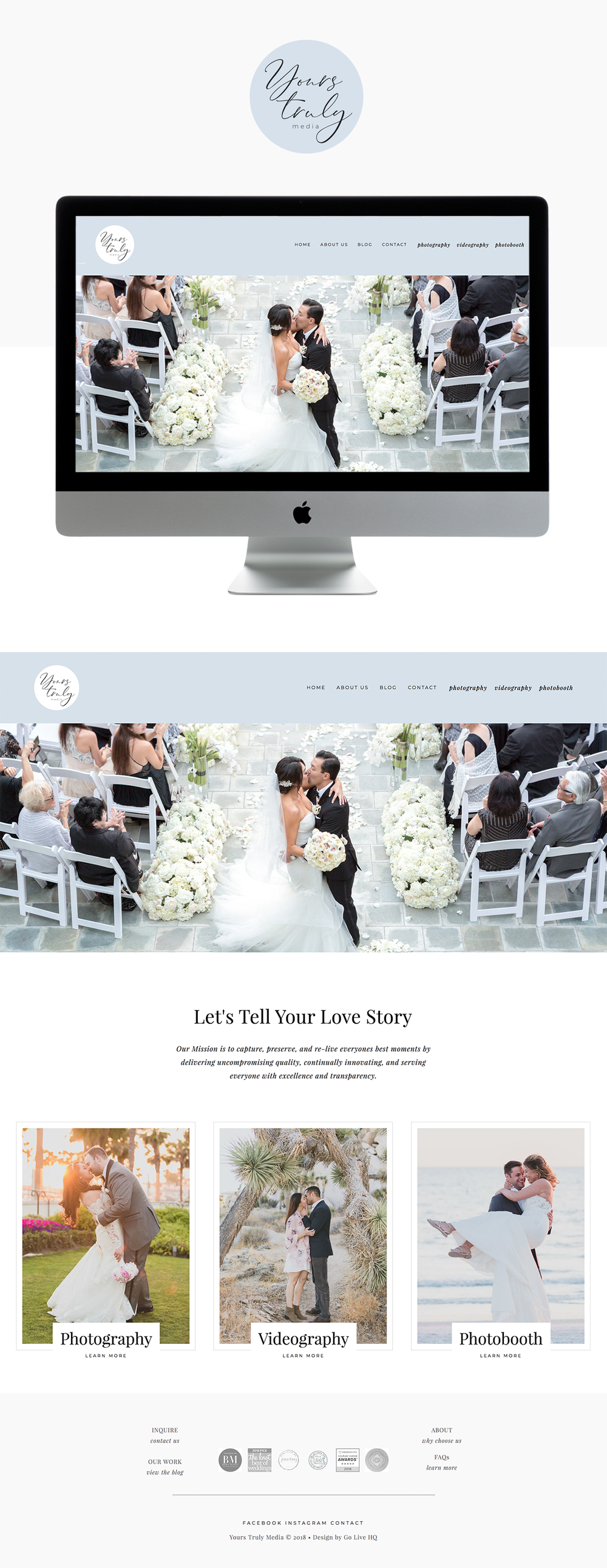 Elegant, High-End Website Design for Wedding Photographers | Design by Go Live HQ