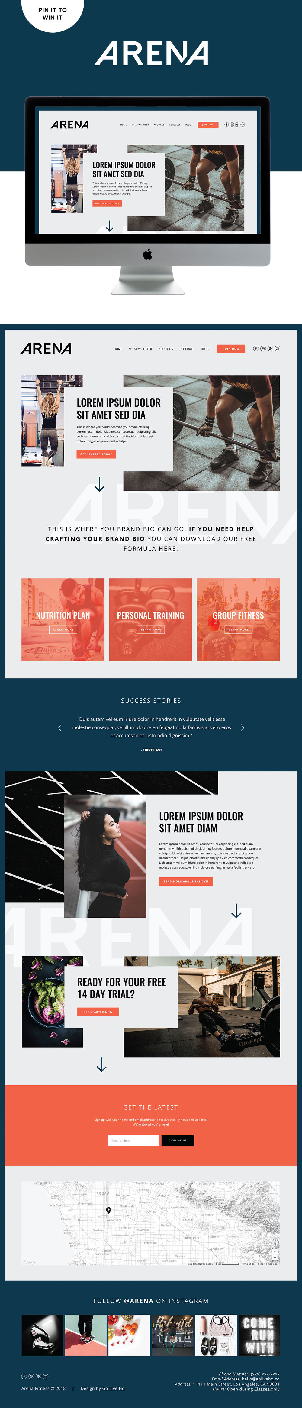 Fitness Trainers and Coaches Squarespace Website Template