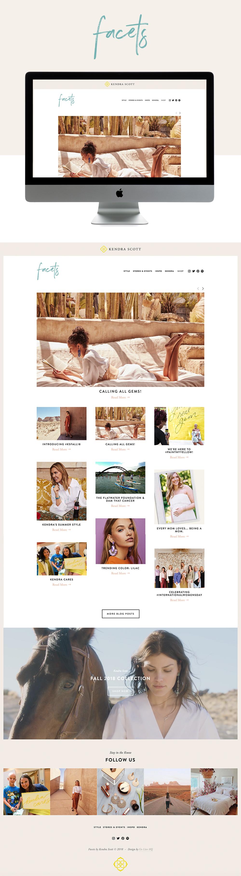 Inspirational and Polished Website Design for Kendra Scott Blog | Design by Go Live HQ