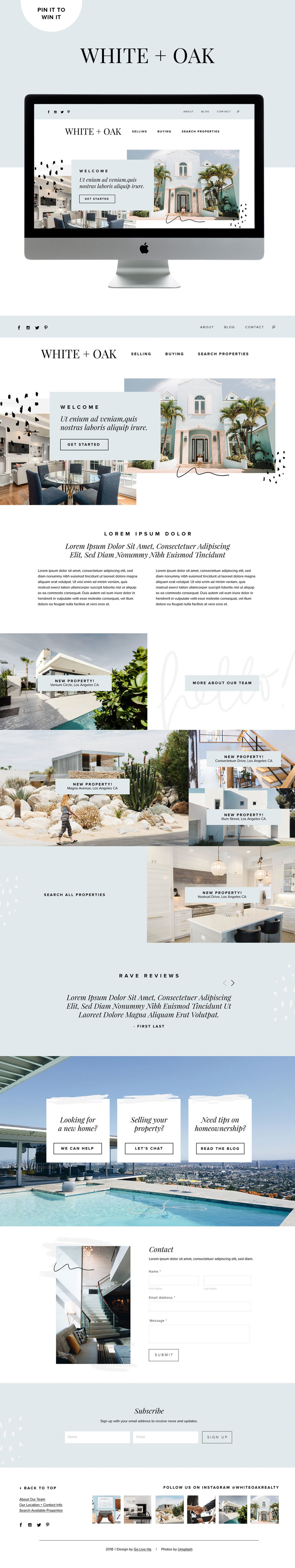 Modern and Fresh Website Design for Realtors & Home Designers | Go Live HQ
