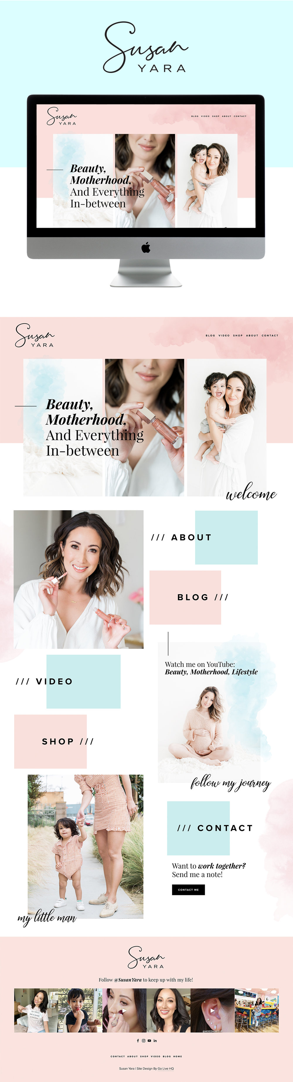 Colorful, Feminine, and Clean Website Design for Beauty and Lifestyle Blogger | Design by Go Live HQ