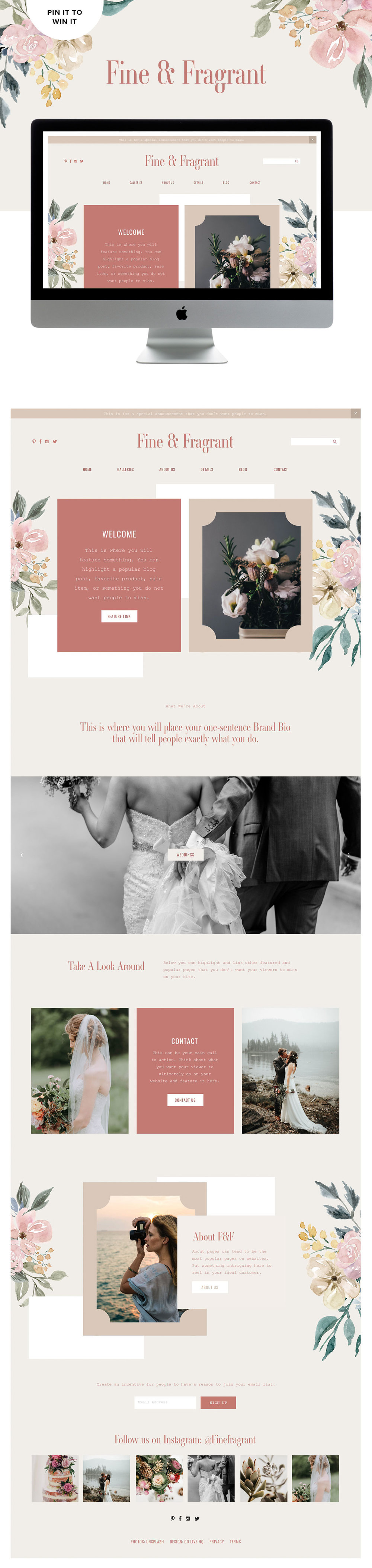 Modern and Creative Website Design for Photographers | Go Live HQ