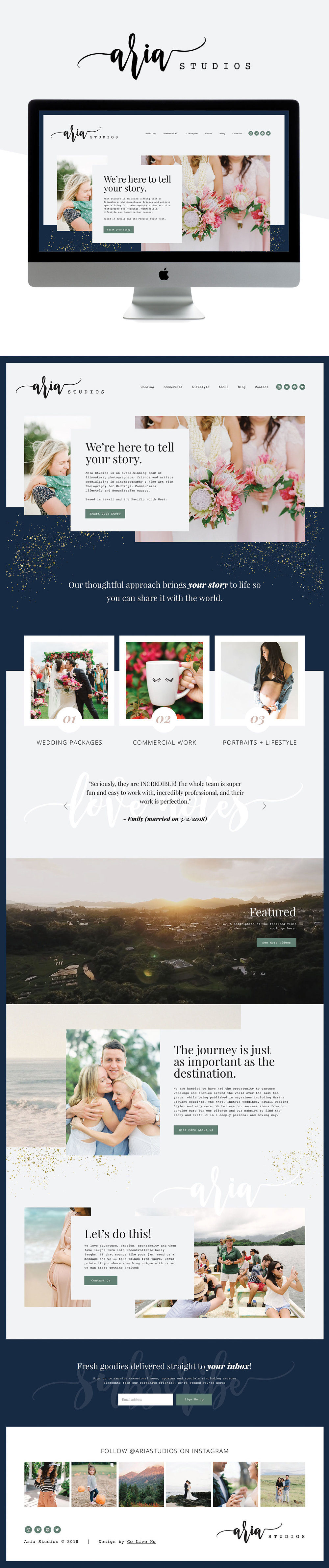 Modern, Lux Website Design for Photography & Film Studio | Design by Go Live HQ