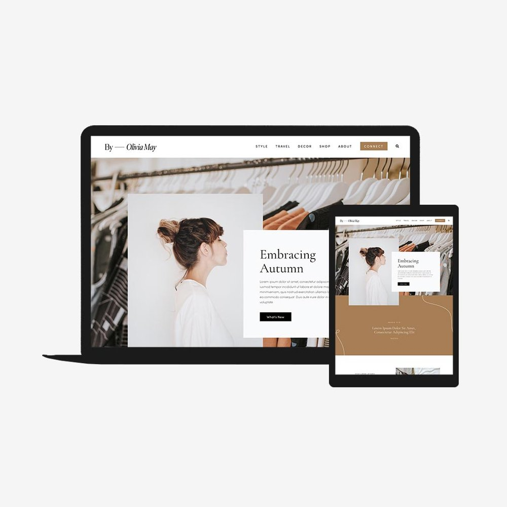 Squarespace Template | Olivia May Squarespace Go Live Showit Squarespace Website
