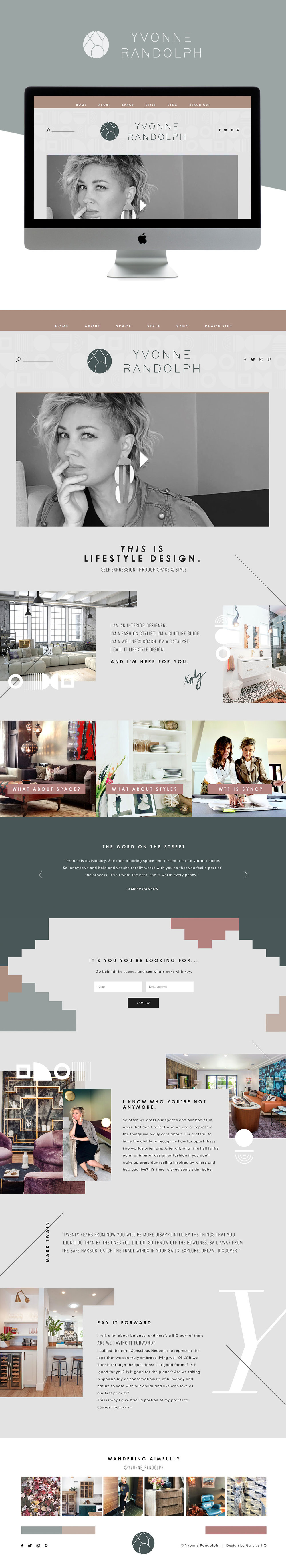 Sophisticated, edgy and modern website design for home designer | Website Design By Go Live HQ