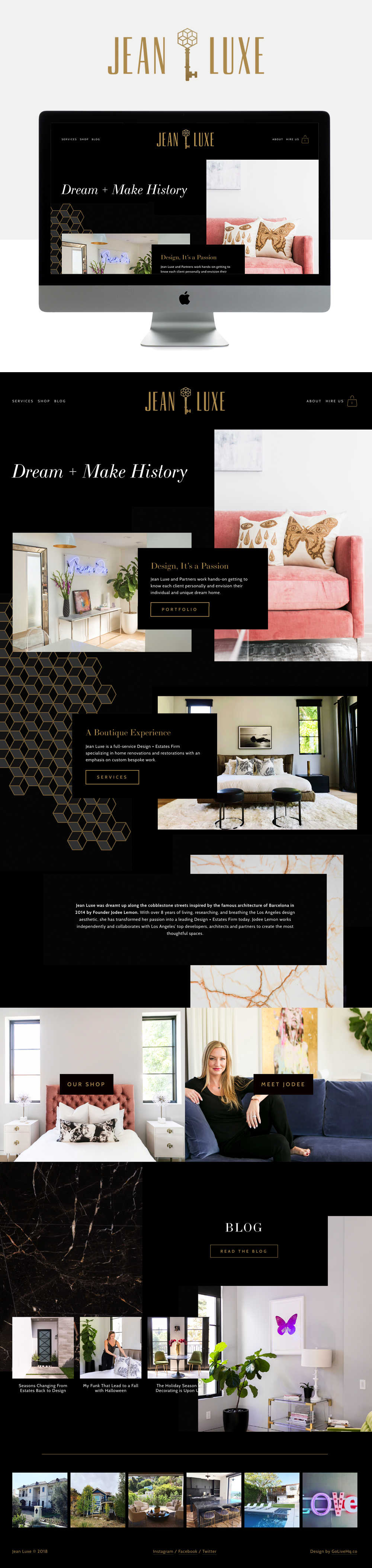 High-end, Luxurious Website For Interior Design Firm | Go Live HQ