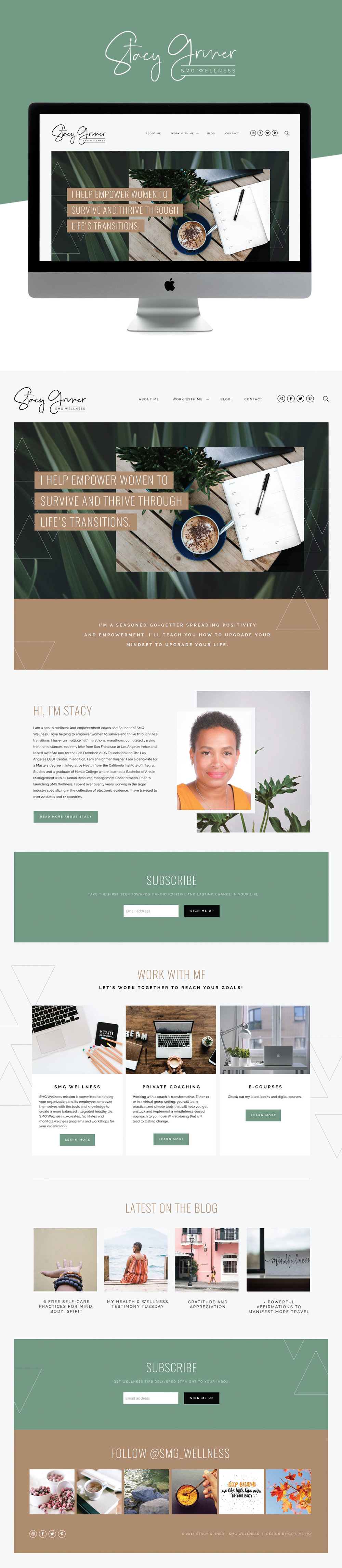 Fun and Professional Website Design for Wellness Business | Design by Go Live HQ